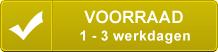 Dit product is op voorraad in het centrale magazijn, de levertijd is 1 tot 3 werkdagen.