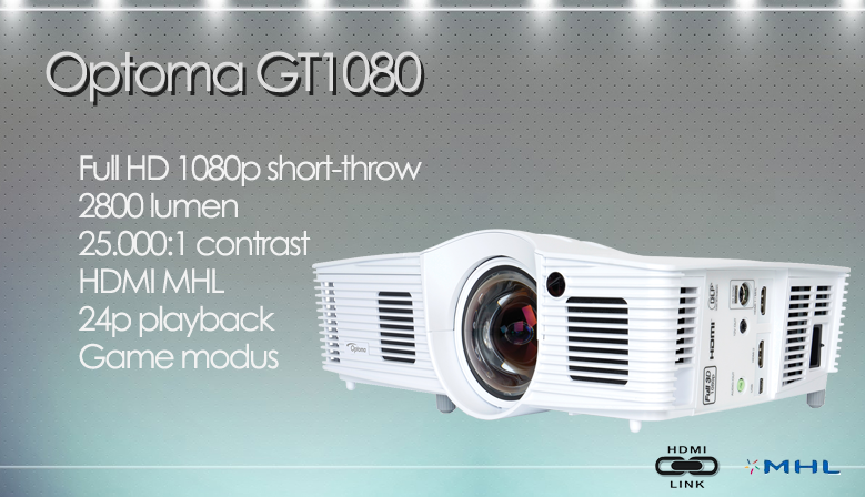 Optoma GT1080e Full HD 1080p short-throw projector