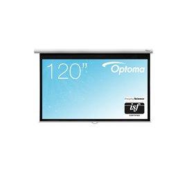 120 inch - 16:9 breedbeeld - Handbediend Projectiescherm met Speed Control