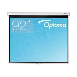 92 inch - 16:9 breedbeeld - Handbediend Projectiescherm